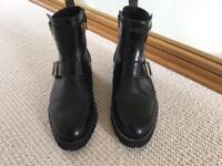Whistles black leather ankle boot size 4