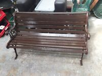 Nice 4ft Garden Bench with Ornate Cast Iron Ends