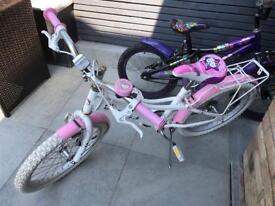 2 girls bikes age 6-9