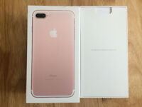 Apple iPhone 7 PLUS/ 256GB/ ROSE GOLD/ NEW/ BOXED/ UNLOCKED/ APPLE WARRANTY