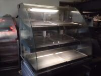 CATERING COMMERCIAL HOT FOOD DISPLAY CABINET CUISINE CAFE SHOP TAKE AWAY BAKERY PATISSERIE KITCHEN