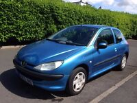 2002 Peugeot 206 1.1 Look 3dr, MOT JAN 2017, CHEAP CAR