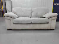 JUMBO CORD creme 2 seater sofa settee in very good condition / free delivery
