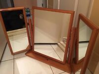 dressng table mirror folding