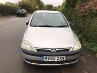 Vauxhall CORSA 1.0 SILVER 2002 CHEAP RUN AROUND £325