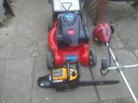 To.selLawnmoor tx.159.gts also chainsaw JCB.also strimmer