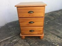 Pine Bedside unit drawers