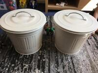 Ikea metal storage bins small