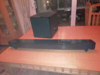 Yamaha YAS 201 sound bar and subwoofer