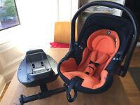 Kiddy Evo Lunafix Car Seat + isofix base - 8 MONTHS GUARANTEE REMAINING