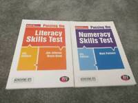 Achieving QTS (qualified teacher status) literacy and maths skills test books in excellent condition