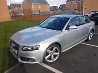 """AUDI A4 S-LINE only 64,720k 2010 Facelift MODEL 2.0TDI CR 6 GEAR Manual 18"""" A5 Alloys FULL Leather"""