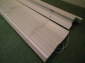 White wooden blinds - 176cm wide