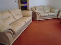 Set of 2 genuine leather sofas