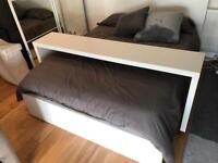 ikea malm table over bed