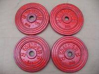 4 x weider cast iron 6kg weights = 24kg