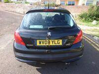 Peugeot 207 1.4L 2008 in black