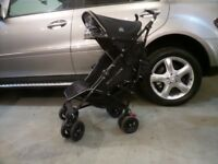 Maclaren Techno XT Pushchair Stroller Black With Raincover and Footmuff / Stroller