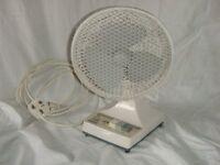 Table top oscillating fan