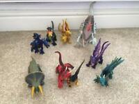 Job lot of dinosaurs and dragons
