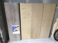 Six loft panels / boards