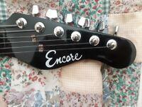 Black Encore Electric Guitar