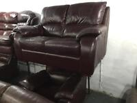 As new leather 2 and 1 sofa set