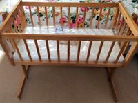 Baby Weavers Swing Crib - Natural (Includes brand new mattress)
