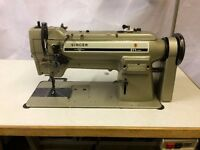 SINGER 211U166A WALKING FOOT COMPOUND FEED HEAVY DUTY INDUSTRIAL SEWING MACHINE