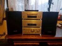 Denon mini separates tannoy speakers hifi sound