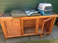 Rabbit Hutch with Cover & Carrier