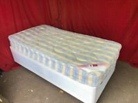 Single divan bed with mattress Can deliver