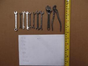 """Small (~3"""") vintage Wilde open end wrenches $35"""