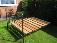 Hand crafted bed company cast iron double bed