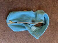 FREE small dog sweater, dog coat, turquoise blue