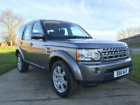 2011 LAND ROVER DISCOVERY 4 XS SDV6 AUTO GREY, Sat Nav, Cameras, Leather heated