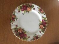 Royal Albert 'Old Country Roses' bone China tea plate.