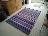 Stripy rug, one-off design from Gaff, Brighton