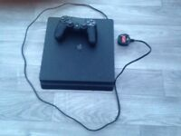PS4 500 GB Black w/ Controller + Uncharted 4 + HDMI Cable