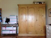REDUCED Delightful Victorian Pine triple wardrobe