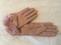 Brand New Pink Leather Gloves from Accessorize (100% Real Leather) - Size S/M
