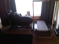 crosstrainer and manual treadmill