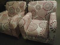 2 Arm Chairs in good clean condition.
