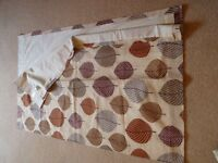 Dunelm Lined Curtains. Regan. Terracotta Leaf Design. As new.