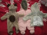 3 newborn coats