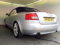 2003   Audi A4 1.8 T Sport   Manual   Petrol   Convertible   9 Months MOT   HPI Clear  