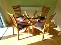 Solid woid table & chairs