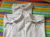 3 used 9-10 school polo shirts 50p each