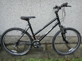 Gary Fisher Trek Advance bike, 26 inch wheels, 24 gears, 18 inch lightweight frame, front suspension