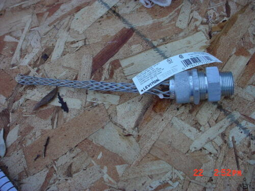 "Leviton Industrial Male Strain Relief Cable Cord Grip  .500-.625"" L7700"